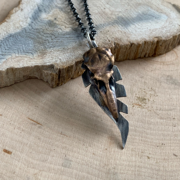 Raven Skull Necklace
