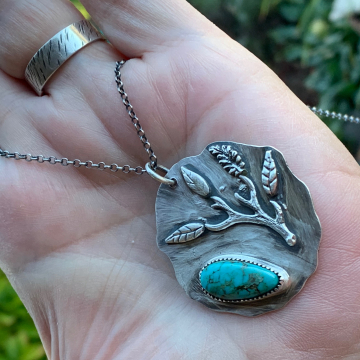 """Cultivate Love"" Turquoise Necklace"