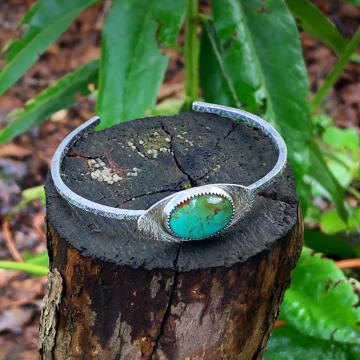 Kingman Turquoise and Sterling Silver Cuff