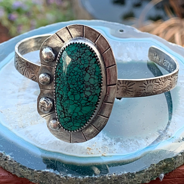 Here Comes the Sun Turquoise Cuff