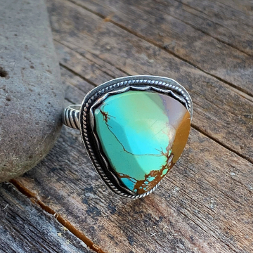 Samara Turquoise Adjustable Ring