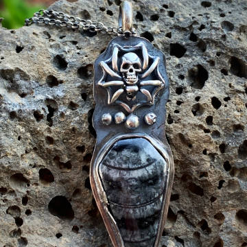 Orthoceros Fossil Coffin Necklace