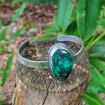 Hubei Turquoise Sterling Silver Cuff