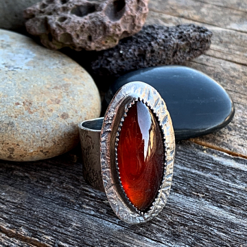 The Shield Maiden Garnet Ring