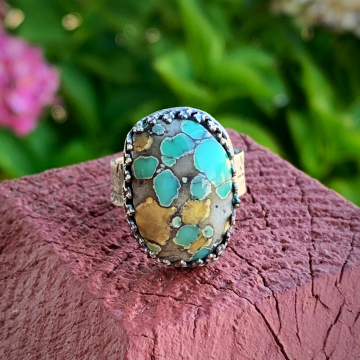 Desert Bloom Variscite Ring